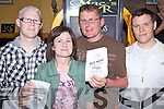Enjoying the night out at the festival fundraising Race Night held in McElligot's Bar, Ardfert on Frfiday night were l/r Ciana?n Ferris, Martina Long, Jeremiah Clifford and Gene Horgan...................................................................................................................................................................................................................................................................................................................... ............