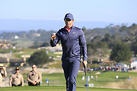 Rory McIlroy (NIR) putts on the 2nd green at Spyglass Hill during Thursday's Round 1 of the 2018 AT&amp;T Pebble Beach Pro-Am, held over 3 courses Pebble Beach, Spyglass Hill and Monterey, California, USA. 8th February 2018.<br /> Picture: Eoin Clarke | Golffile<br /> <br /> <br /> All photos usage must carry mandatory copyright credit (&copy; Golffile | Eoin Clarke)