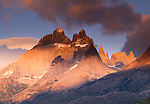 Cuernos del Paine in sunrise light