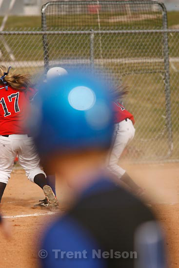 Trent Nelson  |  The Salt Lake Tribune.Springville - Springville vs. Bingham high school softball Thursday, March 18, 2010. blocked