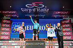 Miguel Angel Lopez Moreno (COL) Astana Pro Team wears the young riders Maglia Bianca at the end of Stage 2 of the 2019 Giro d'Italia, running 205km from Bologna to Fucecchio, Italy. 12th May 2019<br /> Picture: Marco Alpozzi/LaPresse | Cyclefile<br /> <br /> All photos usage must carry mandatory copyright credit (© Cyclefile | Marco Alpozzi/LaPresse)
