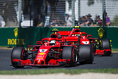 23rd March 2018, Melbourne Grand Prix Circuit, Melbourne, Australia; Melbourne Formula One Grand Prix, Friday free practice; The number 5 Scuderia Ferrari driven by Sebastian Vettel