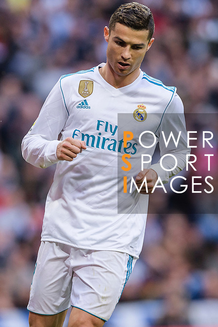 Cristiano Ronaldo of Real Madrid reacts during La Liga 2017-18 match between Real Madrid and Sevilla FC at Santiago Bernabeu Stadium on 09 December 2017 in Madrid, Spain. Photo by Diego Souto / Power Sport Images