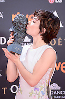Anna Castillo pose to the media with the Goya award at Madrid Marriott Auditorium Hotel in Madrid, Spain. February 04, 2017. (ALTERPHOTOS/BorjaB.Hojas) /NORTEPHOTO.COM