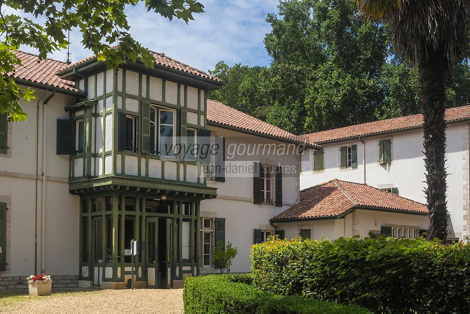 France, Aquitaine, Pyrénées-Atlantiques, Pays Basque, Biarritz: La Villa Mouriscot //  France, Pyrenees Atlantiques, Basque Country, Biarritz: Villa Mouriscot