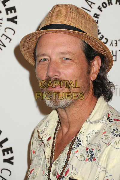 Brian Wimmer<br /> PaleyFest Previews: Fall TV Flashback &quot;China Beach&quot; held at The Paley Center, Beverly Hills, California, USA, 13th September 2013.<br /> portrait headshot beard facial hair hat white print shirt<br /> CAP/ADM/BP<br /> &copy;Byron Purvis/AdMedia/Capital Pictures