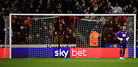 Blackburn Rovers' David Raya reacts after Sheffield United's Billy Sharp scored the opening goal<br /> <br /> Photographer Chris Vaughan/CameraSport<br /> <br /> The EFL Sky Bet Championship - Sheffield United v Blackburn Rovers - Saturday 29th December 2018 - Bramall Lane - Sheffield<br /> <br /> World Copyright © 2018 CameraSport. All rights reserved. 43 Linden Ave. Countesthorpe. Leicester. England. LE8 5PG - Tel: +44 (0) 116 277 4147 - admin@camerasport.com - www.camerasport.com