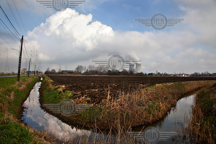 The nuclear energy power station in Doel near Antwerp.