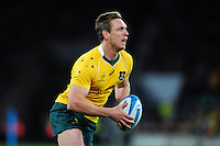 Dane Haylett-Petty of Australia in possession. The Rugby Championship match between Argentina and Australia on October 8, 2016 at Twickenham Stadium in London, England. Photo by: Patrick Khachfe / Onside Images