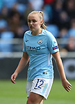 Georgia Stanway of Manchester City during the Women's Champions League, Semi Final 1st leg match at the Academy Stadium, Manchester. Picture date 22nd April 2018. Picture credit should read: Simon Bellis/Sportimage