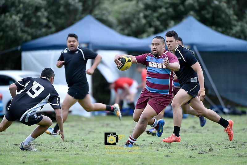 Action from the WRFU Sevens - Invitational Open 7s Tournament at Porirua Park,  Porirua, New Zealand on Saturday 31 October 2015.<br /> Photo by Masanori Udagawa.<br /> www.photowellington.photoshelter.com.