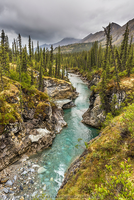 Landscape overlooking the beautiful Matthews River, Arctic, Alaska