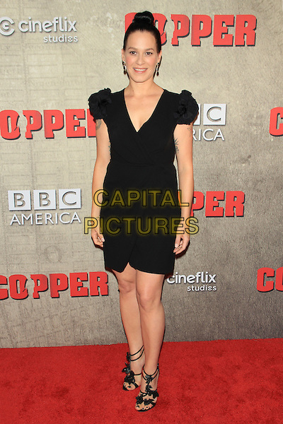 Franka Potente.The Premiere of BBC America's Original Series 'Copper' at the Museum of Modern Art (MoMA), New York, NY., USA..August 15th, 2012.full length black dress hair up.CAP/LNC/TOM.©LNC/Capital Pictures.