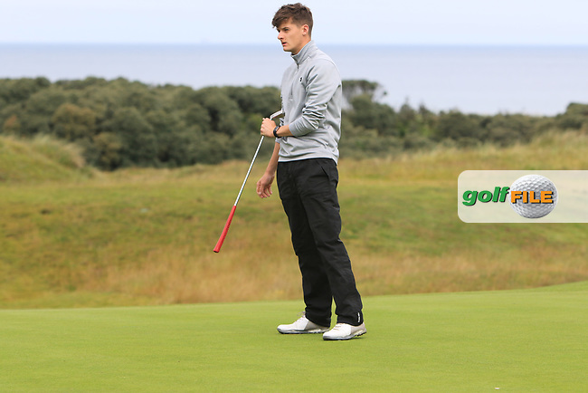 Mark Doogue during Round 2 of the North of Ireland Amateur Open Championship 2019 at Portstewart Golf Club, Portstewart, Co. Antrim on Tuesday 9th July 2019.<br /> Picture:  Thos Caffrey / Golffile<br /> <br /> All photos usage must carry mandatory copyright credit (© Golffile | Thos Caffrey)