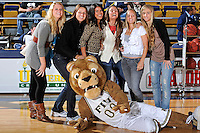 25 February 2010:  Members of FIU's 2009 Women's Tennis Team are honored during the half for winning the Sun Belt Conference.  The Middle Tennessee Blue Raiders defeated the FIU Golden Panthers, 74-71, at the U.S. Century Bank Arena in Miami, Florida.
