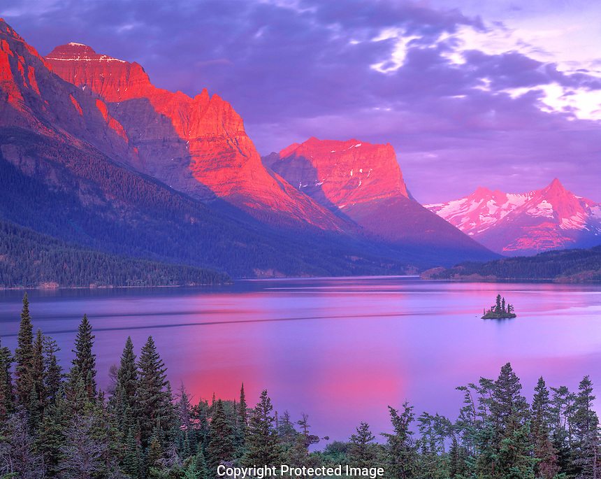 St. Mary Lake at Dawn, Glacier National Park, Montana