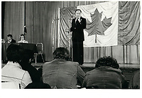 Pierre Trudeau , 20 avril 1978<br /> <br /> PHOTO : agence quebec presse
