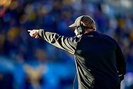 Morgantown, WV - NOV 10, 2018: TCU Horned Frogs head coach Gary Patterson on the sideline during game between West Virginia and TCU at Mountaineer Field at Milan Puskar Stadium Morgantown, West Virginia. (Photo by Phil Peters/Media Images International)