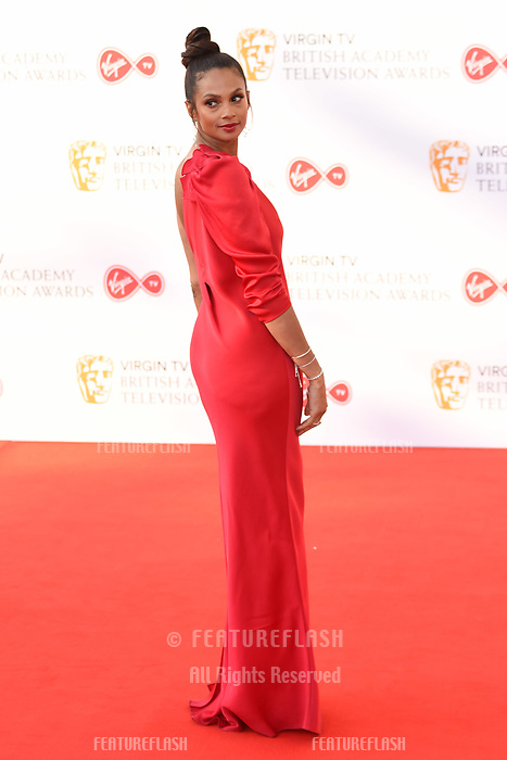 Alesha Dixon arriving for the BAFTA TV Awards 2018 at the Royal Festival Hall, London, UK. <br /> 13 May  2018<br /> Picture: Steve Vas/Featureflash/SilverHub 0208 004 5359 sales@silverhubmedia.com