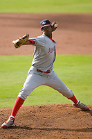 Starting pitcher Walter Tejeda (57) of the Lakewood BlueClaws in action versus the Kannapolis Intimidators at Fieldcrest Cannon Stadium in Kannapolis, NC, Sunday, May 11, 2008.