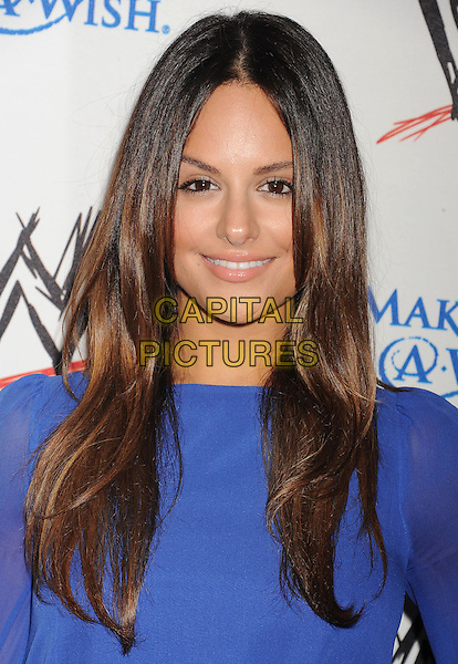 Pia Toscano<br /> WWE &amp; E! Entertainment's &quot;SuperStars For Hope&quot; supporting Make-A-Wish at The Beverly Hills Hotel in Beverly Hills, CA., USA.<br /> August 15th, 2013<br /> headshot portrait blue sheer  <br /> CAP/ROT/TM<br /> &copy;Tony Michaels/Roth Stock/Capital Pictures