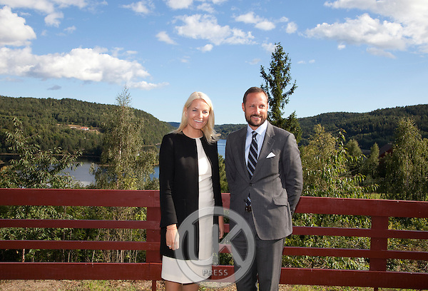 Crown Prince Haakon and Crown Princess Mette-Marit of Norway during a three day visit, to the county of Aust-Agder in Southern Norway..