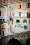 Hanging out the washing in the town of Atrani on the Amalfi Coast in Italy
