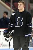 Matt Blomquist (Bentley - 21) - The visiting Bentley University Falcons defeated the Boston University Terriers 4-1 (EN) on Saturday, December 14, 2013, at Agganis Arena in Boston, Massachusetts.