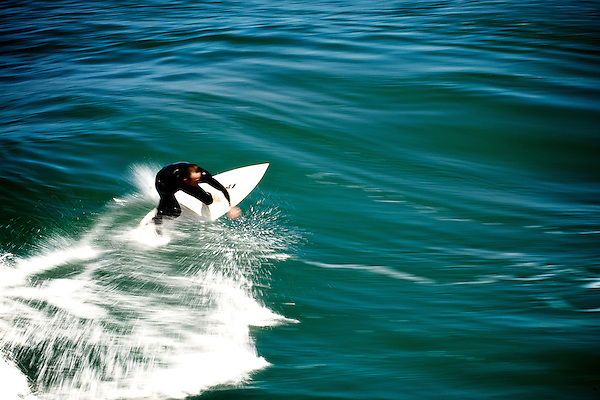 Male surfer in San Diego, California