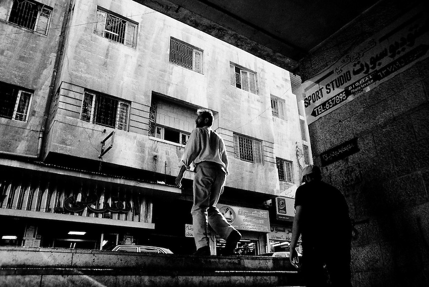 Iraqi refugees in downtown Amman, Jordan, September 2009. Photo: Ed Giles..