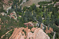 Aerial of Glen Eyrie Castle Colorado Springs
