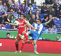 28.04.2012. Cornella, Spain. La LIga Match between RCD Espanyol against Sporting de Gijon