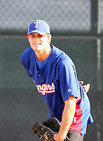 Justin Grimm - 2010 AZL Rangers .Photo by:  Bill Mitchell/Four Seam Images..