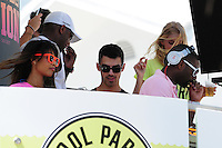 MIAMI BEACH, FL - MARCH 14: Chanel Iman, Joe Jonas, Elsa Hosk and DJ Irie attends Victorias Secret Pink Nation Hosts Spring Break at The Shelborne on March 14, 2012 in Miami Beach, Florida. (photo by: MPI10/MediaPunch Inc.)