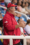 RIO DE JANEIRO - 8/9/2016:  Coach John Allan looks on as Kevin Strybosch competes in the Men's Discus Throw - F37 Final in the Olympic Stadium during the Rio 2016 Paralympic Games. (Photo by Matthew Murnaghan/Canadian Paralympic Committee