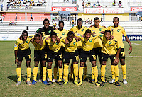 Jamaica lines up during the third place game of the CONCACAF Men's Under 17 Championship at Catherine Hall Stadium in Montego Bay, Jamaica. Panama defeated Jamaica, 1-0.