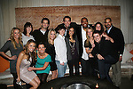 All My Children and One Life To Live's actors - front row: Chrishell Stause, Melissa Claire Egan, Kristen Alderson, Eddie Alderson, Daphnee Duplaix, Marcia Tovsky, Brett Claywell and back row: Natalie Hall, Brittany Allen, Michael Lowry, Adam Mayfield, Sean Ringgold, Brittany Underwood, Terrell Tilford at Marcia Tovsky's Holiday/Bon Voyage Party for AMC on December 1, 2009 at Nikki Midtown, New York City, New York. (Photo by Sue Coflin/Max Photos)