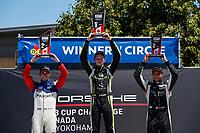 Race 2, Platinum Podium, #79 Mark Motors Racing, Porsche 991 / 2019, GT3CP: Roman DeAngelis, #3 SCB Racing, Porsche 991 / 2017, GT3CP: Parker Thompson, #96 OpenRoad Racing, Porsche 991 / 2017, GT3CP: Michael Di Meo