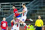 S&ouml;dert&auml;lje 2014-11-09 Fotboll Kval till Superettan Assyriska FF - &Ouml;rgryte IS :  <br /> &Ouml;rgrytes George Mourad och Sotiris Papagiannopoulus i nickduell under matchen mellan Assyriska FF och &Ouml;rgryte IS <br /> (Foto: Kenta J&ouml;nsson) Nyckelord:  S&ouml;dert&auml;lje Fotbollsarena Kval Superettan Assyriska AFF &Ouml;rgryte &Ouml;IS