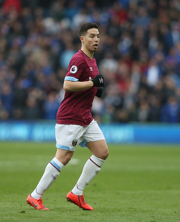 West Ham United's Samir Nasri<br /> <br /> Photographer Rob Newell/CameraSport<br /> <br /> The Premier League - Cardiff City v West Ham United - Saturday 9th March 2019 - Cardiff City Stadium, Cardiff<br /> <br /> World Copyright © 2019 CameraSport. All rights reserved. 43 Linden Ave. Countesthorpe. Leicester. England. LE8 5PG - Tel: +44 (0) 116 277 4147 - admin@camerasport.com - www.camerasport.com