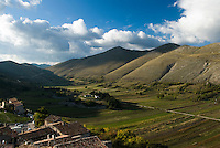 The breathtaking view of the valley from the medieval village of Santo Stefano di Sessanio in the Gran Sasso National Park