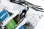 Finland's Eetu Vaehaesoeyrinki competes during the training of the Nordic Combined NH as part of the Trentino 2013 Winter Universiade Italy on 12/12/2013 in Predazzo, Italy.<br /> <br /> &copy; Pierre Teyssot - www.pierreteyssot.com