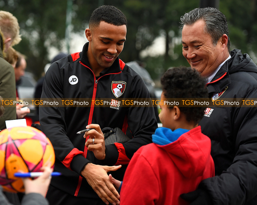 Callum Wilson of AFC Bournemouth is introduced to a young fan during AFC Bournemouth vs Watford, Premier League Football at the Vitality Stadium on 21st January 2017