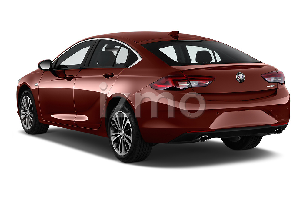 Car pictures of rear three quarter view of a 2019 Buick Regal-Sportback Essence 5 Door Hatchback angular rear
