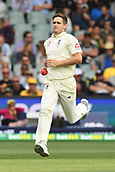 3rd December 2017, Adelaide Oval, Adelaide, Australia; The Ashes Series, Second Test, Day 2, Australia versus England; Chris Woakes of England runs in to bowl