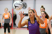 07.10.2017 Silver Ferns Maria Tutaia in action during the Silver Ferns training in Christchurch. Mandatory Photo Credit ©Michael Bradley.