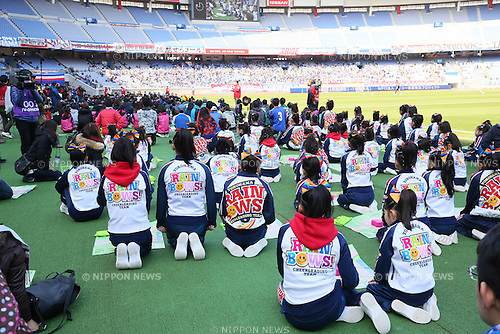 AEDGeneral view, <br /> FEBRUARY 21, 2015 - Football / Soccer :<br /> 2015 J.League Pre-season match between <br /> Yokohama F Marinos 0-1 Matsumoto Yamaga FC <br /> at Nissan Stadium in Kanagawa, Japan. <br /> (Photo by Yohei Osada/AFLO SPORT) [1156]