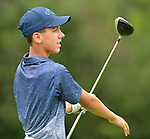 Garett Zurliene of the SIGA eClub watches his ball after driving down the fairway on the first day of the Metropolitan Amateur Golf Association's 20th Junior Amateur Championship being held at the St. Clair Country Club in Belleville, IL on July 1, 2019. <br /> Tim Vizer/Special to STLhighschoolsports.com