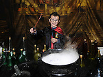 Cian Barry casts a spell at the harry Potter day at Scotch Hall in aid of st Ita's Special School. Photo:Colin Bell/pressphotos.ie