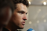 Olympic Champion Greg Van Avermaet (BEL) BMC Racing Team press conference before the 104th edition of the Tour de France 2017, Dusseldorf, Germany. 29th June 2017.<br /> Picture: Eoin Clarke | Cyclefile<br /> <br /> <br /> All photos usage must carry mandatory copyright credit (&copy; Cyclefile | Eoin Clarke)